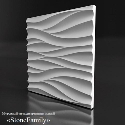 Гипсовые 3д панели от производителя. Завод декоративных изделий stonefamily.